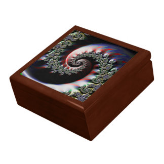 Cool Wet Paint Fractal Swirl of RGB Primary Colors Gift Box