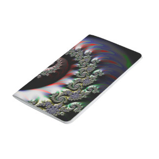 Cool Wet Paint Fractal Swirl of RGB Primary Colors Journal