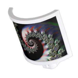 Cool Wet Paint Fractal Swirl of RGB Primary Colors Nite Lights
