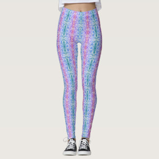 Cool White and Cool Patterned Leggings