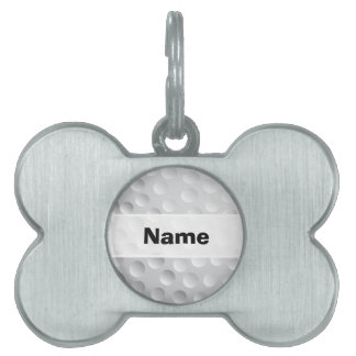 Cool White Golf Ball Texture, Golfer Pet Name Tag