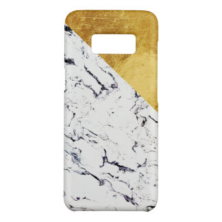 Cool White Marble with Gold Foil Case-Mate Samsung Galaxy S8 Case