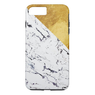 Cool White Marble with Gold Foil iPhone 8 Plus/7 Plus Case