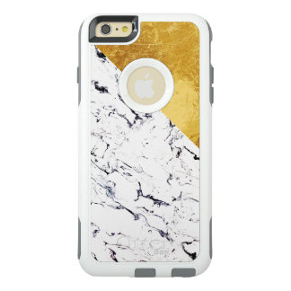 Cool White Marble with Gold Foil OtterBox iPhone 6/6s Plus Case