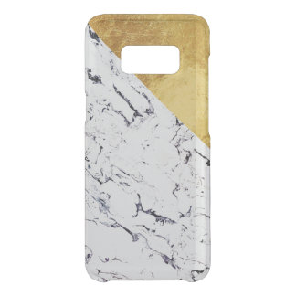 Cool White Marble with Gold Foil Uncommon Samsung Galaxy S8 Case