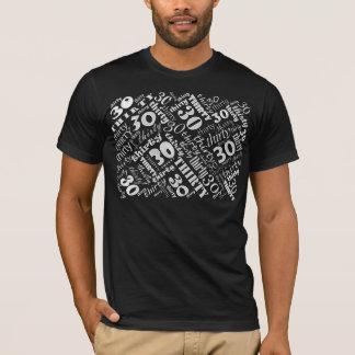 """Cool """"White on Black"""" 30th Birthday Tshirt"""