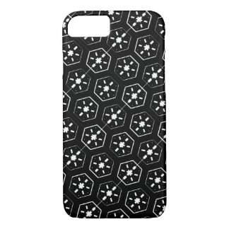 Cool White Star Inspired Pattern on Black Space iPhone 8/7 Case