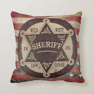 Cool Wild West Sheriff Pillow! Throw Pillow