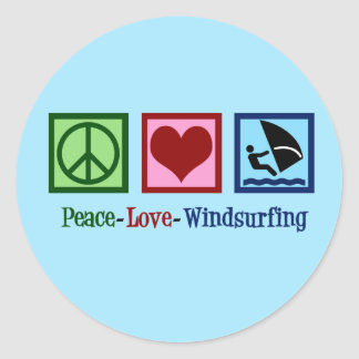 Cool Windsurfing Classic Round Sticker