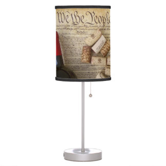 Cool Wine & Constitution Table Lamp! Table Lamp