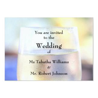 Cool Wine Glass Print Wedding Invitation