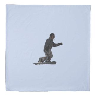 Cool Winter Sportsman Snow-boarder Duvet Cover