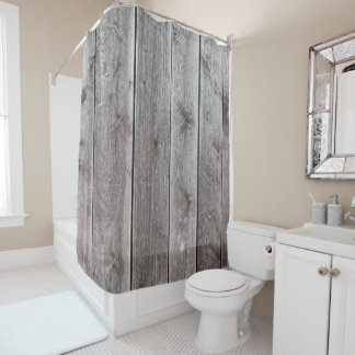 Cool Wood look Rustic Shower Curtains Customizable