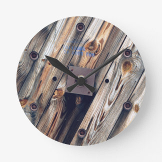 Cool Wooden Wire Spool Round Clock
