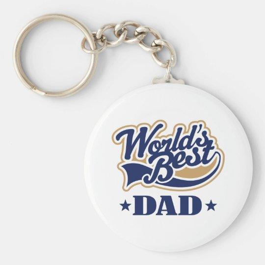 Cool World's Best Dad Gift Basic Round Button Keychain