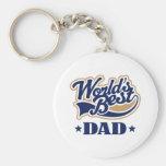 Cool World's Best Dad Gift Keychains