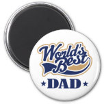 Cool World's Best Dad Gift Refrigerator Magnets