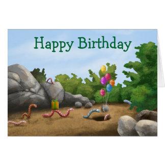 Cool Worm Birthday Card