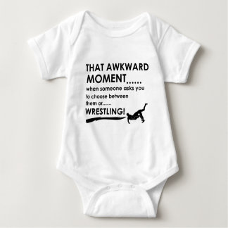 Cool wrestling  designs baby bodysuit