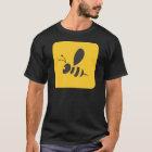 Cool Yellow Bee Icon Logo Shirt
