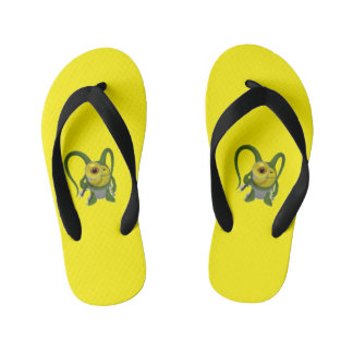 Cool yellow flip flop kid's flip flops