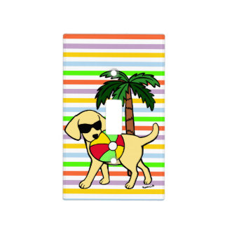 Cool Yellow Labrador Sunglasses Light Switch Cover