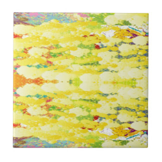 Cool Yellow Modern Pop Abstract Ceramic Tiles