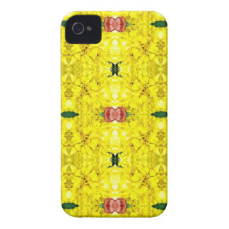 Cool Yellow Red Modern Tribal Pattern iPhone 4 Cover