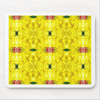 Cool Yellow Red Modern Tribal Pattern Mouse Pad