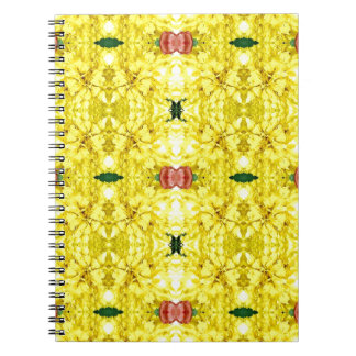 Cool Yellow Red Modern Tribal Pattern Notebook