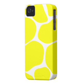 Cool Yellow/White Giraffe Print - iPhone 4/4s Case