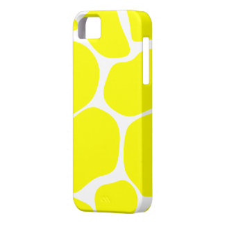 Cool Yellow/White Giraffe Print - iPhone 5 Case