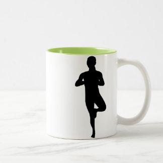 Cool Yoga Balance Two-Tone Coffee Mug