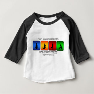Cool Yoga It Is A Way Of Life Baby T-Shirt