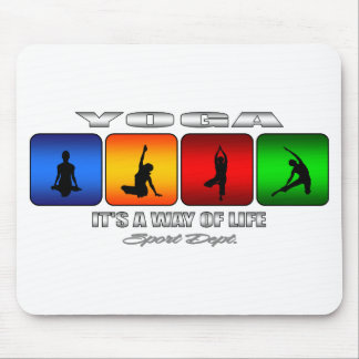Cool Yoga It Is A Way Of Life Mouse Pad