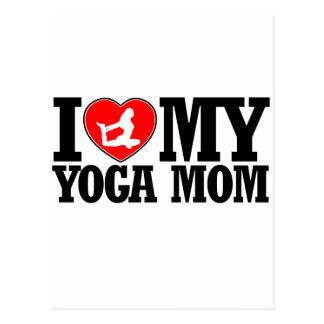 cool yoga  mom designs postcard