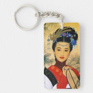 Cool young beautiful chinese prince Guo Jin art Double-Sided Rectangular Acrylic Keychain