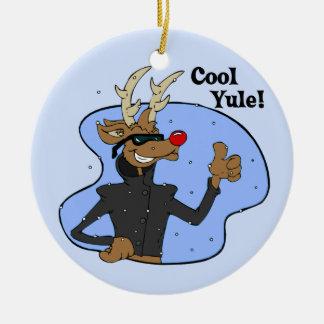 Cool Yule Reindeer Ornament