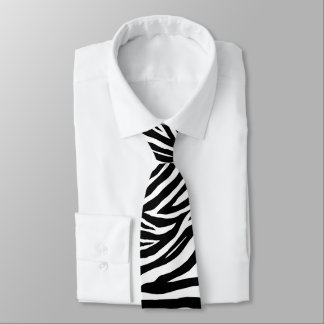 Cool Zebra Stripes Necktie