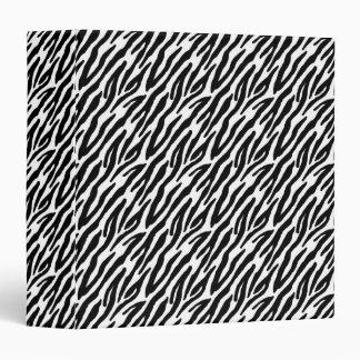 Cool Zebra Stripes Vinyl Binders