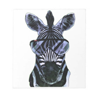 Cool Zebra with Glasses Notepad