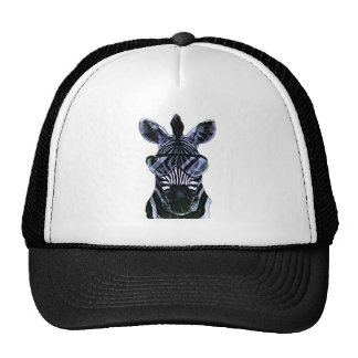 Cool Zebra with Glasses Trucker Hat