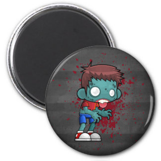 Cool Zombie Dude with Blood / Paint Splatter Magnet