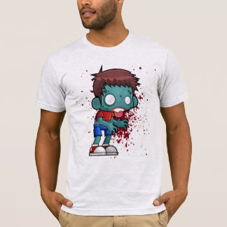 Cool Zombie Dude with Blood / Paint Splatter T-Shirt