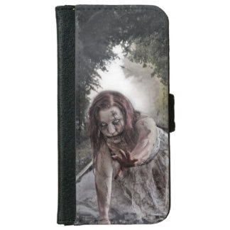 Cool Zombie Girl iPhone 6 Wallet Case