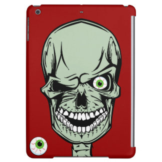 Cool zombie skull face with a missing eye, case for iPad air