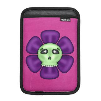 Cool Zombie Skull Flower iPad Mini Sleeve