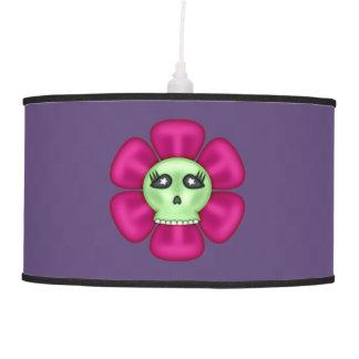 Cool Zombie Skull Flower Pendant Lamp