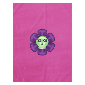 Cool Zombie Skull Flower Tablecloth