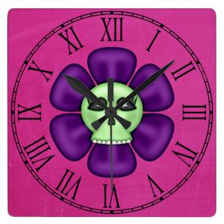 Cool Zombie Skull Flower Wall Clocks